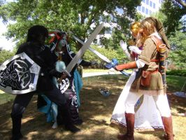 AWA 14 LOZ shoot5 DarkVSLight by LinkInSpirit