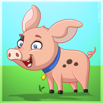 Cartoon Piggy by JoeCostantini