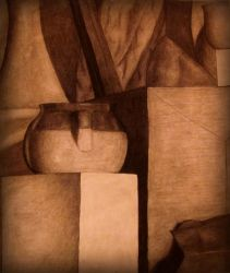 Charcoal Still Life by annadigiovanni