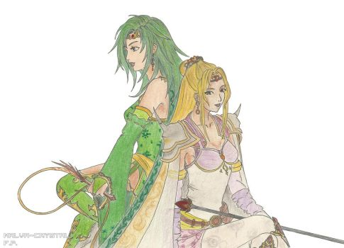 Rydia and Rosa - FFIV by Malva-Crystal
