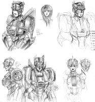 Knights Sketch Collage by a-paranoid-android