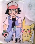 Ash and Pikachu by 17cherry