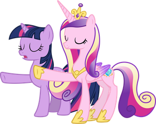 Princess Cadance and Twilight Sparkle Relaxing by 90Sigma