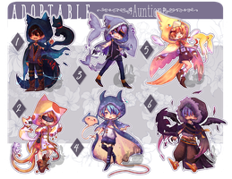 [CLOSED : Auction] Adoptable Animal Hoodies by HalfChe