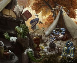 Wizard Lizard Camping by CBSorgeArtworks