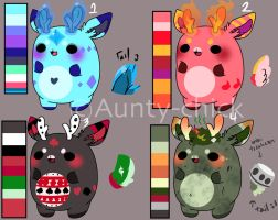Chibeans deers adoptables 2 [ CLOSED/ SOLD OUT ] by Aunty-chick