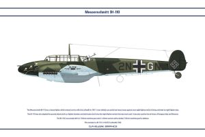 Bf 110 D ZG1 1 by WS-Clave