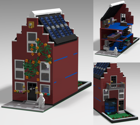 LEGO Soliil Canal House by RaptorBricks