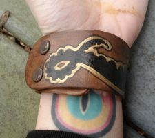Handpainted tentacle cuff by missmonster