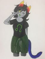 Nepeta Sketch but colored by 0livecats