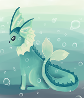 Vaporeon by MoonAngel2