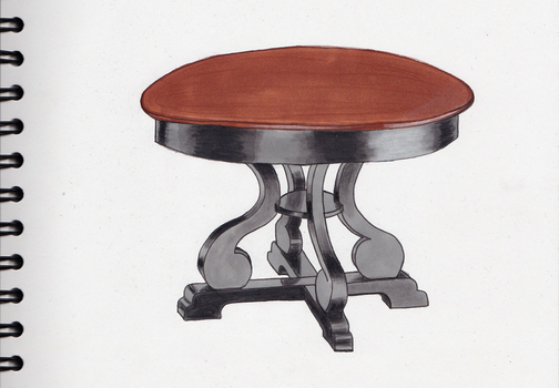 004 Table-tabouret by ShuaTinwe