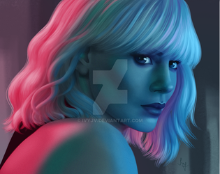 Atomic blonde (Charlize Theron) by ivyjv