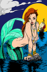 UPDATED: Ariel Inks By J Skipper - coloured by listerrd52169