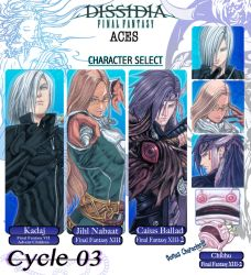 My Dissidia Aces - Cycle 03 Application by Nick-Ian