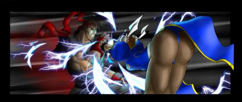 Street Fighter Panel One by Zatch