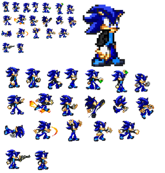 My sonic fan sprite V8 ( FINAL) by Shadow2433-Slade