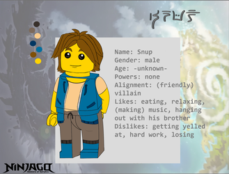 Ninjago FC Snup -ref-sheet- by Mechasauria