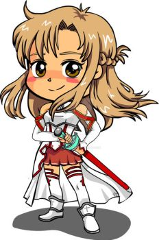 Sword art online - Asuna chibi fan art by digikolobong