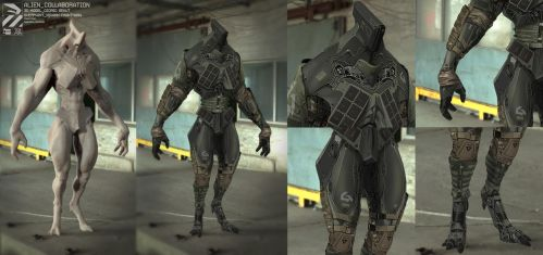 Alien_collaboration_frontview_armored by duster132