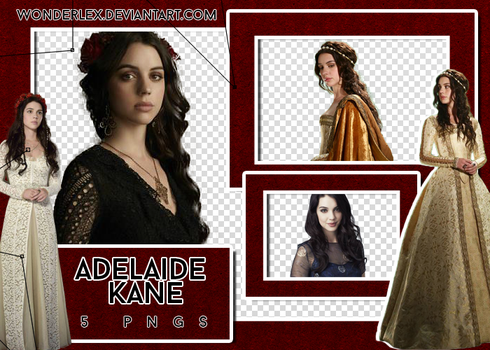 PNG PACK #9 | ADELAIDE KANE by wonderlex