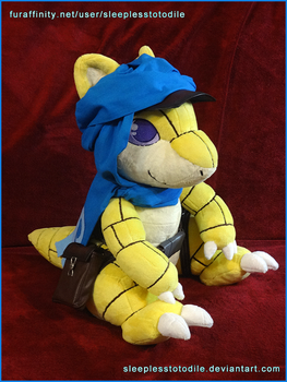 Flint the Sandshrew Plush by SleeplessTotodile
