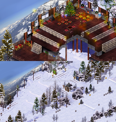 Dreamy Mountain Ski Resort by james-talon