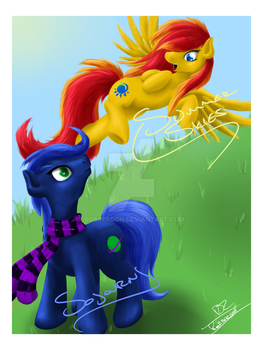 Fiesta Equestria Poster (commission) by ROBBERGON