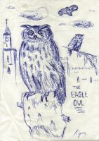 The eagle owl by lyness