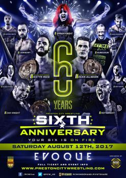 PCW UK Sixth Anniversary show poster by THE-MFSTER-DESIGNS