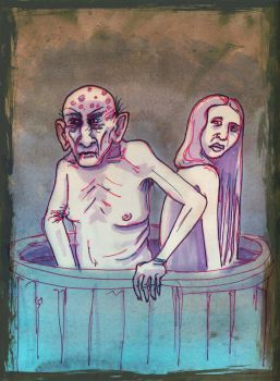 Walder Frey and his Wife by kethryn