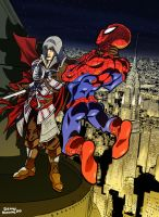 Ezio vs Spiderman by Sommum