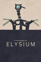 Elysium Minimalist Poster by SpaceDelusion