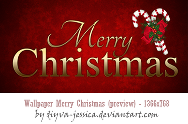 Merry Christmas Wallpaper by DiyVa-Jessica