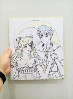 Art Request: Sailormoon/Serenity x Seiya Kou by Zee-ZYP