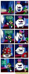 King Boo and Luigi - My old archenemy by Princesa-Daisy
