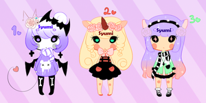 Pastel Goth Adopts (Closed) by Syumi