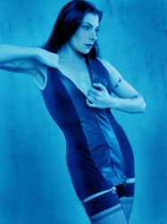 In Blue with Black Dress by Anyssa
