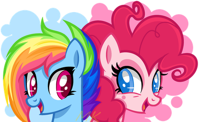 G5 Rainbow Dish and Pinkie Pink by xXMaiKhanhFlareXx