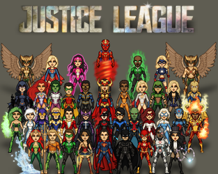 Justice League/DC Heroes by ThatsSoHaydn