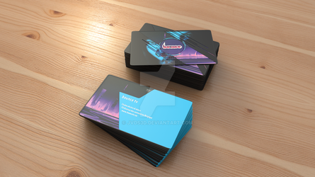bounce TV Channel - Business Cards V2 (3D scene) by JVDS3D
