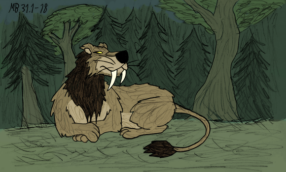 Saber-tooth Lion by Mara999