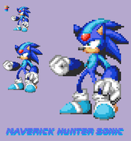 Sprite: Maverick Hunter Sonic by MaverickETC