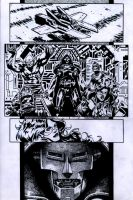 SanEspina Inhumans page1 ink by santiagocomics