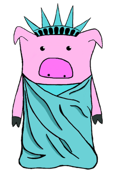 Pig Liberty... version 1.0? by SquisherIsMeh