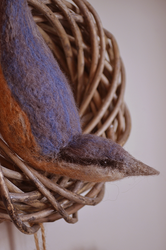 Needle Felted Nuthatch by Velven