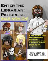 Enter The Librarian set (No longer available) by Plasma-dragon
