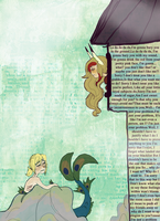 Rapunzel and the Little Merman by Lear-is-not-amused