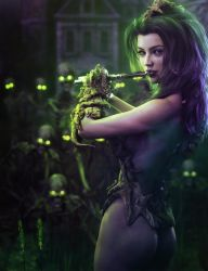 Pied Piper, Necromancer Fantasy Woman Art, DS Iray by shibashake