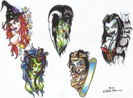 Girly monsters by damien-gosh